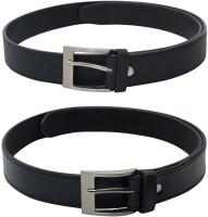 SkyWays Men Casual Black, Black Artificial Leather Belt Black-02