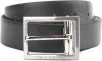 Louis Philippe Men Black, Brown Synthetic Reversible Belt Black And Burgundy