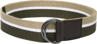 ETC Men Casual Green, Beige Canvas Belt Olive/Green/Beige