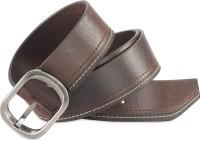 Hide & Sleek Men Casual Brown Genuine Leather Belt Brown-526
