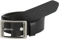 Global Leather Boys, Men, Girls, Women Formal, Casual, Party, Evening Black Genuine Leather Belt Black - BELEAJ4SZJHDA9ZR