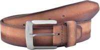 Buckle Up Men Casual Tan Genuine Leather Belt Tan