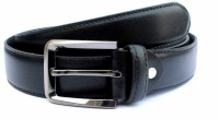 Tops Men Formal Black Genuine Leather Belt Black - BELEY3BFSDCQXAFG