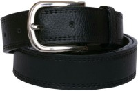 Yours Luggage Men, Boys Casual, Evening, Formal, Party Black Artificial Leather, Genuine Leather, Synthetic Belt Black
