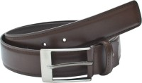 Leather Hub Men Formal Brown Artificial Leather Belt Brown