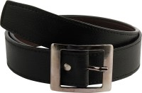 Mustard Men Formal Black Artificial Leather Belt Black
