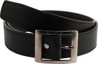 Mustard Men Formal Black Artificial Leather Belt Black
