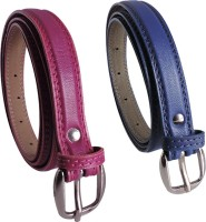 Elligator Women Casual, Formal, Party Maroon, Blue Artificial Leather Belt Maroon-03