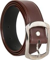 K London Men Casual, Formal Brown Artificial Leather Belt Brown
