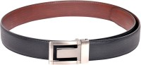 Scarleti Men Formal Black Artificial Leather Reversible Belt (Black)
