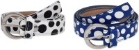 SRS Women Casual Blue, White Artificial Leather Belt Blue-White-25