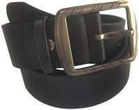 The Brandstand Men Casual Black Texas Leatherite Belt Black