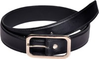 Swan Collection Boys, Men Formal, Casual, Evening Black Artificial Leather Belt Black2