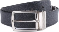 Louis Philippe Men Grey, Brown Genuine Leather Reversible Belt Grey And Light Brown
