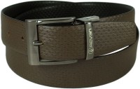 Reven Men Formal Black Genuine Leather Reversible Belt Black And Brown - BELEC88YFHBYKJCB