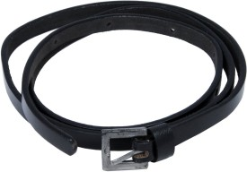 WOAP Girls Casual, Party Black Artificial Leather Belt