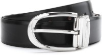 Louis Philippe Men Grey, Brown Reversible Belt Black/Brown