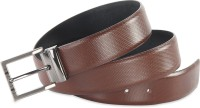 Hide & Sleek Men Formal Brown Genuine Leather Belt Brown-496