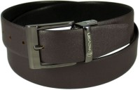 Reven Men Formal Black Genuine Leather Reversible Belt Black And Brown - BELEC88YFUHHZR6D