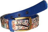JAJV Women Casual Blue Canvas Belt Blue