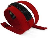 Demigods Girls, Women Party, Evening Red Fabric Belt Red-Koel Black