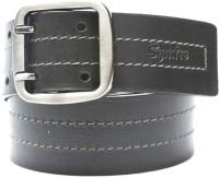 Syndec Men Casual Black Genuine Leather Reversible Belt Black-02
