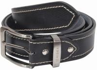 Hidea Men Casual Black Genuine Leather Belt Black-02