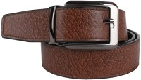 YOURS LUGGAGE Men, Boys Casual, Evening, Formal, Party Black, Brown Artificial Leather, Genuine Leather, Synthetic Reversible Belt Black