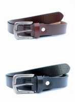 Tops Men, Women Formal Black, Brown Genuine Leather Belt (Black, Brown) - BELE4JCPTYJH2ZRZ