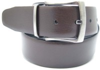 Lustre International Men Formal Black, Brown Genuine Leather Reversible Belt (Black, Brown)