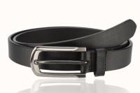 Contrast Women Semi-formal Black Genuine Leather Belt Black-09