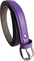 Elligator Women Casual, Formal, Party Purple Artificial Leather Belt Purple-01