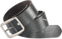 Hide & Sleek Men Casual Black Genuine Leather Belt Black_519