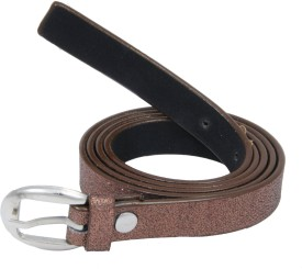 WOAP Girls Brown Artificial Leather Belt