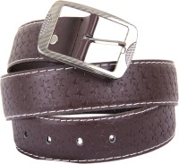 D'Attitude Men Formal, Semi-formal Brown Artificial Leather Belt (Brown)