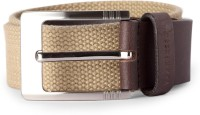 Van Heusen Men Beige Fabric Belt Beige