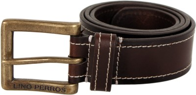 Buy Lino Perros Single Side - Solid - Stitch 85 cm Casual Belt - For Men: Belt