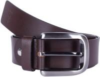 Kara Men Formal Brown Genuine Leather Belt Brown