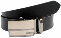 Tops Men Formal Black Genuine Leather Belt Black - BELE2KZBJZQZWSZY