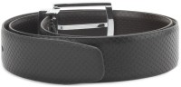 Louis Philippe Men Black, Brown Synthetic Reversible Belt Black