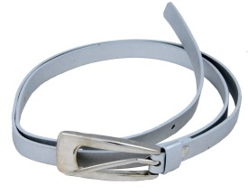 WOAP Girls Casual, Party Silver Artificial Leather Belt