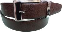 Ex Corio Men Formal Brown Genuine Leather Reversible Belt Black, Brown