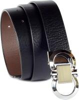 Magiq Men Casual Black, Brown Genuine Leather Reversible Belt Black, Brown
