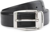 Louis Philippe Men Black Genuine Leather Reversible Belt Black / Brown