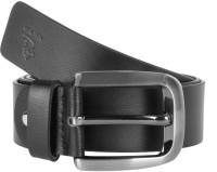 Kara Men Formal Black Genuine Leather Belt Black