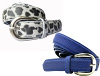 WHOLESOME DEAL Women Casual Multicolor Synthetic Belt White And Blue