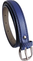 Elligator Women Casual, Formal, Party Blue Artificial Leather Belt Blue-01