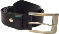Skyforest Men, Boys, Women, Girls Formal, Casual Black Genuine Leather Belt Black