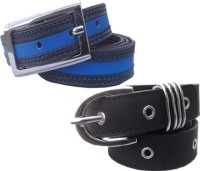 WHOLESOME DEAL Women Casual Multicolor Synthetic Belt Black And Blue