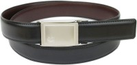 Abhinavs Men Formal Black Genuine Leather Reversible Belt Black, Brown